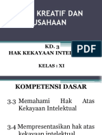 PKK X KD 3 Hak Kekayaan Intelektual