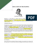 Constantino Miseducation of the Filipino