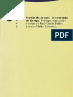Heidegger, Martin. - El Concepto de Tiempo [2003]