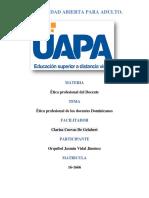 Tarea 6 Etica Profesional Del Docente