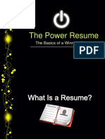 Power Resume