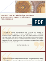 Reflexões na poética de João Miguel Fernandes Jorge