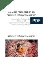 women entrepreneurships