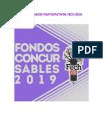 Bases Fondos Concursables FECH 2019
