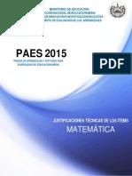 Justificaciones Paes 2015 Matemática-convertido