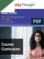 QT Blueprism Course Content