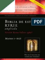 Muestra Biblia de Estudio Ryrie Ampliada