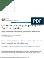Cartórios Têm Pesquisa Para Ajudar Brasil Em Ranking - Estadão