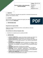 Instructivo Seleccion Del Auditor Interno