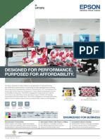 Epson SureColor SC-F6270 F7270 Brochure