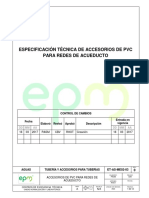 Especificaciones técnicas de tuberías
