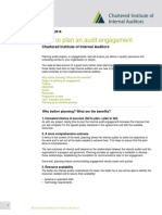 How to Plan an Audit Engagement IIA UK