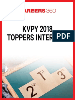 KVPY 2018 Toppers Interview