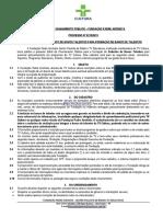 Edital de Chamamento Banco de Talentos 2019