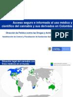 Normatividad y Requerimientos Del Ministerio de Justicia, En La Obtencion de Licencias Para Cannabis Psicoactivo, y No Psicoactivo Con Fines Medicos y Cientificos