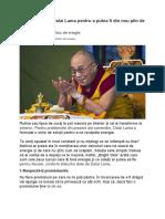 Ce Soluţii Oferă Dalai Lama Pentru a Putea Fi Din Nou Plin de Viaţă