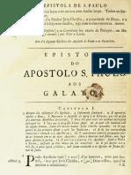 Novo Testamento Almeida 1693 - Epístola de Paulo Aos Gálatas
