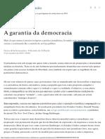 A Garantia Da Democracia - Opinião - Estadão