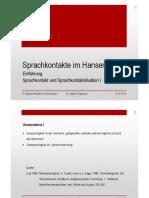 01 Sprachkontakte Im Hanseraum Einführung I Aktualisiert 2018