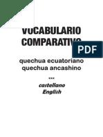 Vocabulario Comparativo Quechua Ecuatoriano - Quechua Ancashino