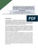 Separacion de Los Componentes de Una Mezcla y Determinacion de Densidad
