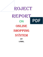 project on online shopping system