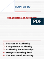 Mgt Chapter 7 the Question of Authority