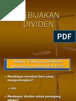 Kebijakan dividen - Manajemen Keuangan