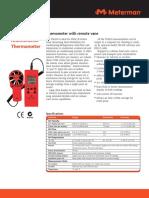 Anemometer Thermometer TMA10