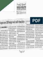 Manila Bulletin, Sept. 30, 2019, Angara sure 2020 budget wont suffer from delays.pdf