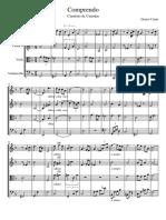 Comprendo, Cuarteto-Partitura y Partes