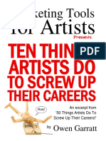 10 Things Artist do to Screw Up Careers