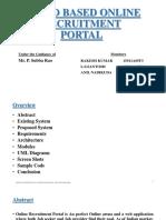 Cloud Based Online Recruitment Portal