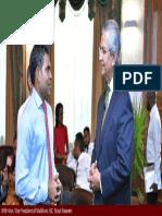 Prof. .Prajapati Trivedi Meets Hon. Vice President of Maldives