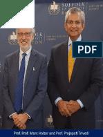 Prof. Prajapati Trivedi with Prof. Marc Holzer