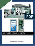 Manual GSM AC2000 - American Wellgo