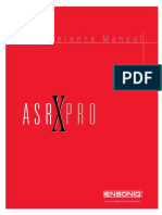 Asr-x Pro Reference Manual