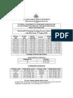 PG BEd(New) Schedule, Spr 2018
