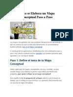 Cómo Se Elabora Un Mapa Conceptual Paso a Paso