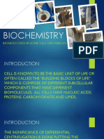 Biochemistry (Biomolecules in some cellular components)