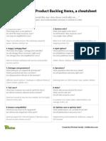 Cheatsheet - 10 Strategies to Break Product Backlog Items