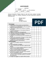 Questionnaire - Drugs (1)