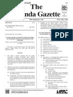 Updf Insignia and Uniforms in Uganda Gazette