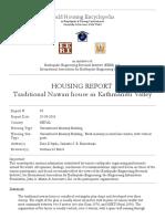 Newari Dwelling Report