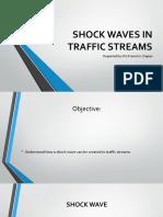 Shock Waves in Traffic Streams