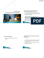 Engineering, Procurement and Construction (EPC) Contracts Presentation