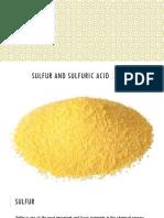 9. Sulfur and Sulfuric Acid