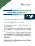 Communiqué du Président du conseil exécutif de Corse