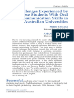 Yanagi2015 Challenges Experienced by Japanese Students With Oral Communication Skills
