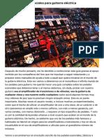 Guía de pedales esenciales para guitarra eléctrica | Guitarristas.info
